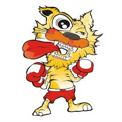 tiger boxing cartoon