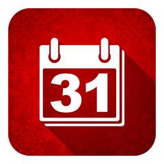 calendar flat icon, christmas button,