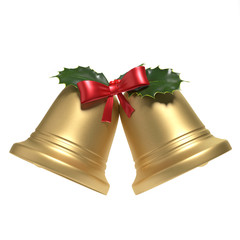 3d illustration of Christmas Bells
