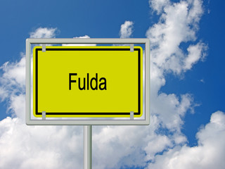 Fulda - Ortsschild