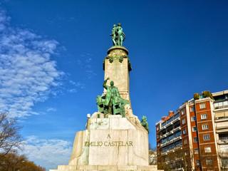 Madrid, monumento a Emilio Castelar, republicanos españoles