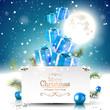 Christmas night - greeting card