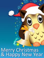 Eule - Merry Christmas