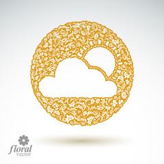 Sunny weather stylized icon – meteorology pictogram created fr