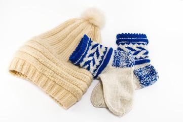 Warm socks and cap