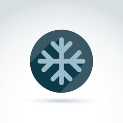 Vector illustrated snowflake isolated on white background.  Weat