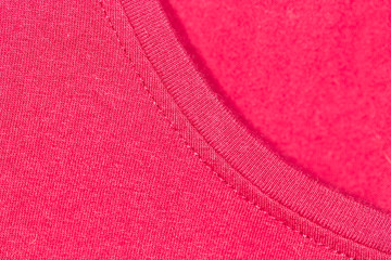 background of red knitted fabric