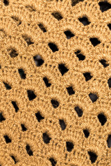 background of brown knitted fabric