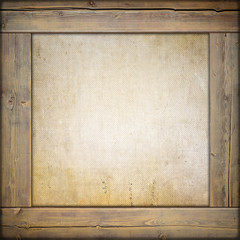Wooden frame with canvas