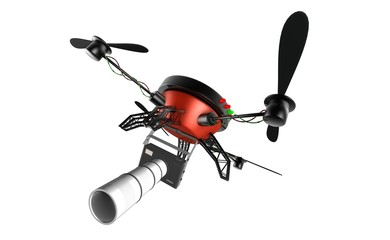 Quad copter taking pictures from the sky