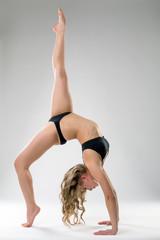 Image of flexible girl posing in acrobatic pose