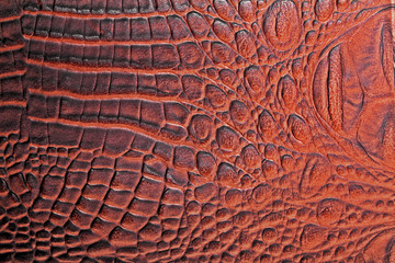 Brown alligator patterned background