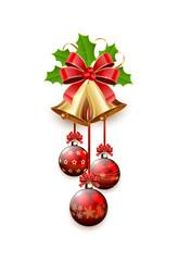 Christmas bells and balls