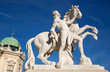 Vienna - The statue before upper Belvedere palace