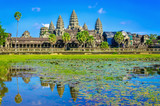 Amazing view of Angkor Wat tample, Siem Reap, Cambodia