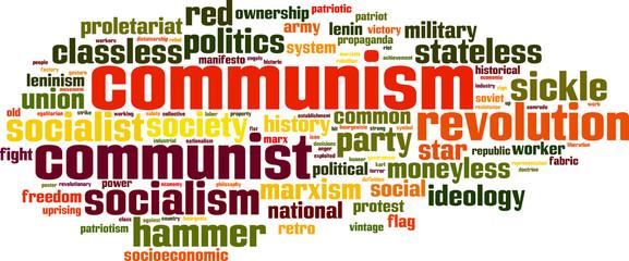 Communism word cloud concept. Vector illustration