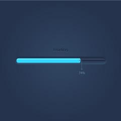 Vector progress loading bar