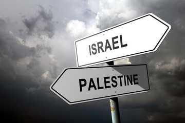Israel and Palestine directions.