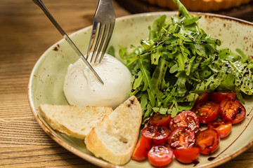 Burrata mozzarella cheese