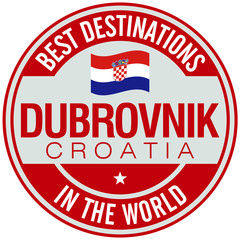 dubrovnik croatia label