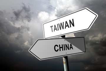 Taiwan and China directions.