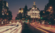 The Metropolis building at night, Madrid. - 73907351