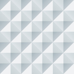 Abstract white and grey geometric squares seamless pattern