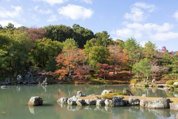 秋の天龍寺庭園