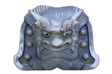 京都天龍寺の鬼瓦