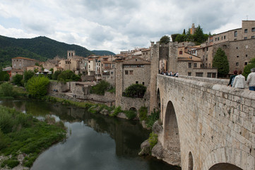 medieval village of besalu in catalonia Spain