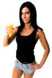 woman drink orange juice