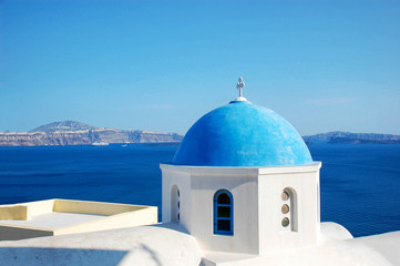 the most famous church in Santorini Greek island
