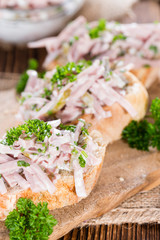 Bread with Meat Salad