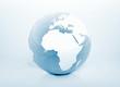 Blue world globe high detailed 3d illustration