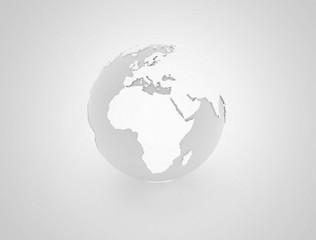 World globe 3d illustration
