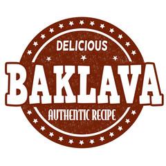 Baklava stamp