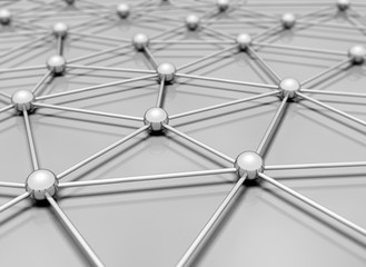 Network 3d illustration