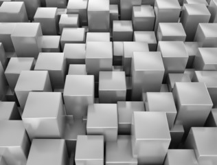 Abstract metallic 3d cubes background