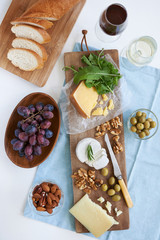 Selection of cheese for party snacks starter