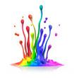 canvas print picture - Farbspritzer 2