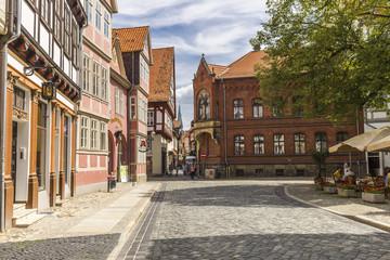 Alte deutsche Häuser in Quedlinburg 06603