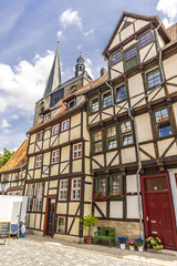 Alte deutsche Häuser in Quedlinburg 06599