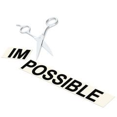 Scissor cut impossible