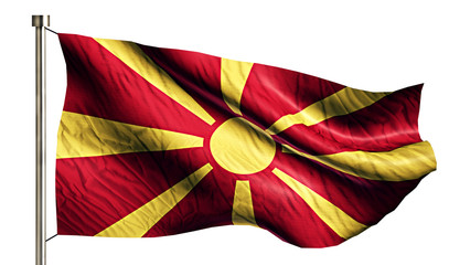 Republic of Macedonia National Flag Isolated 3D White Background