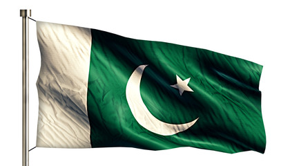 Pakistan National Flag Isolated 3D White Background