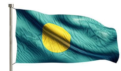 Palau National Flag Isolated 3D White Background