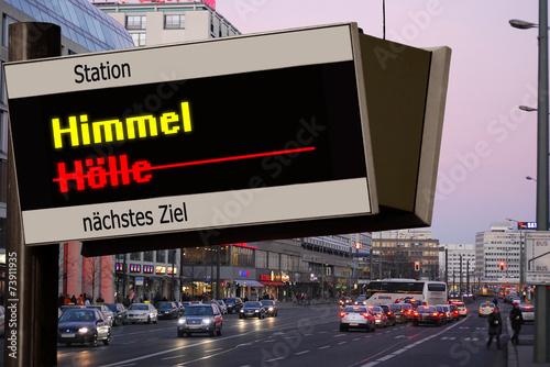 canvas print picture Anzeigetafel 5 - Himmel
