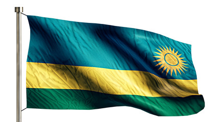 Rwanda National Flag Isolated 3D White Background