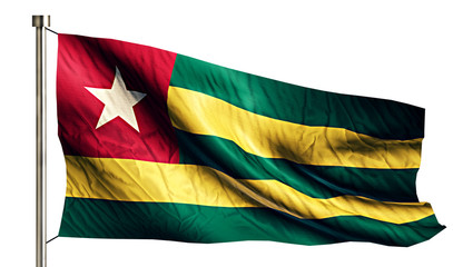 Togo National Flag Isolated 3D White Background
