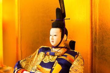 Emperor doll at the Girls' Festival, peach festival, in Japan